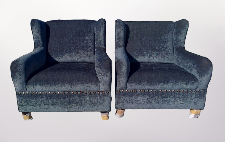 Blue Arm Chairs - Furniture Re-Upholstery - Southern Suburbs