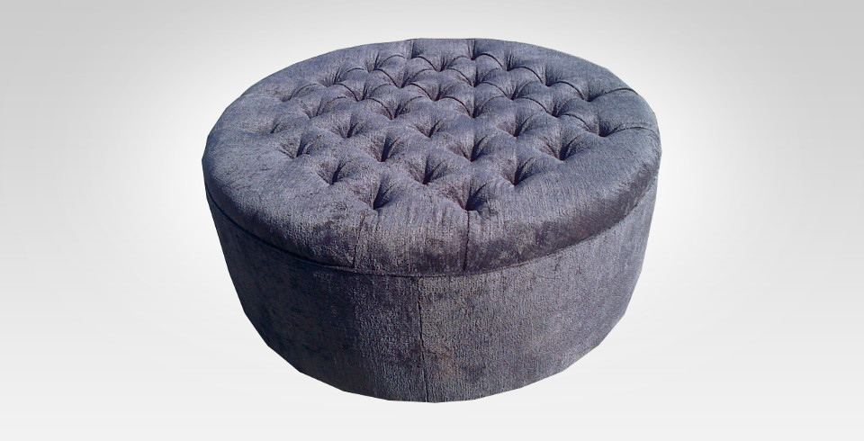 Blue Ottoman - Furniture Re-Upholstery - Southern Suburbs