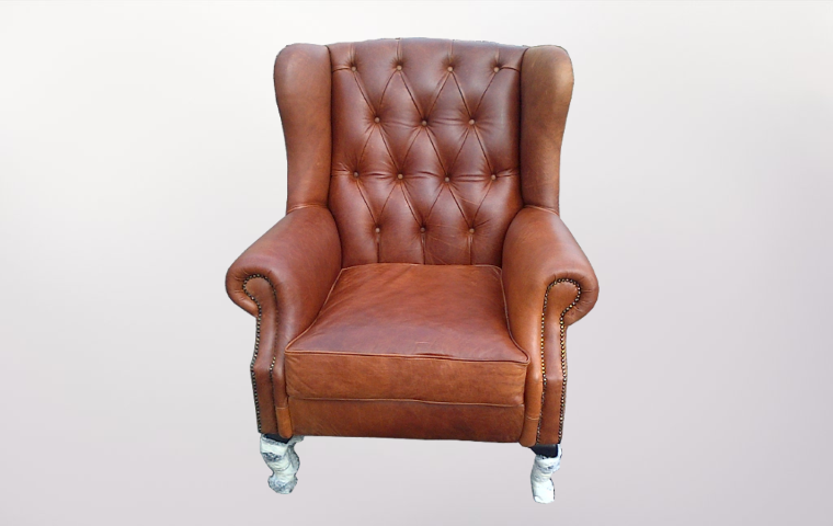 Brown Leather Arm Chairs - Furniture Re-Upholstery - Southern Suburbs