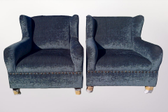 Blue Arm Chairs - Furniture Re-Upholstery - Milnerton