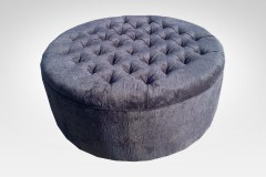Blue Ottoman - Furniture Re-Upholstery