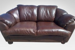 Leather Couch - Furniture Re-Upholstery