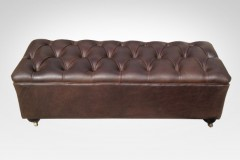 Leather Ottoman - Furniture Re-Upholstery - Kenilworth